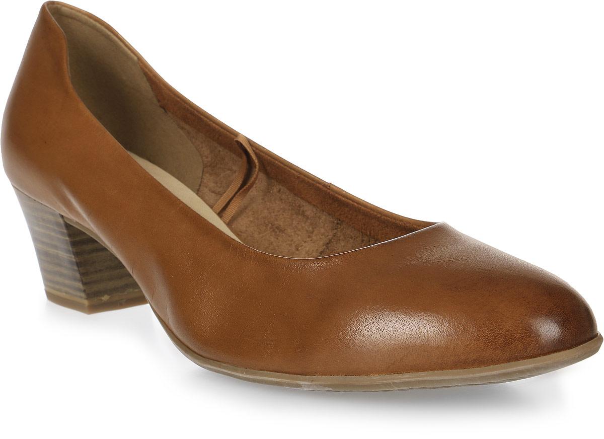 Туфли женские Tamaris, цвет: коричневый. 1-1-22302-28-305/225. Размер 401-1-22302-28-305/225Стильные женские туфли, выполненные из натуральной кожи, оснащены устойчивым каблуком. Внутренняя поверхность и стелька, изготовленные из искусственной кожи, обеспечат комфорт ногам. Каблук и подошва дополнены противоскользящим рифлением.
