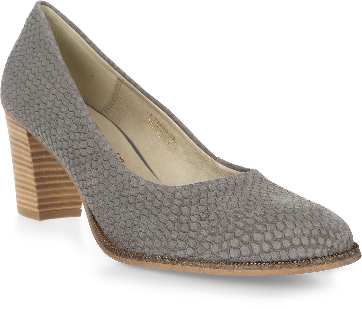 Туфли женские Tamaris, цвет: серый. 1-1-22439-28-228/201. Размер 411-1-22439-28-228/201Стильные женские туфли Tamaris придутся вам по душе!Модель выполнена из натуральной кожи. Невероятно мягкая съемная стелька из искусственной кожи гарантирует максимальный комфорт при движении и позволяет ногам дышать. Устойчивый каблук и подошва не скользят.Удобные туфли помогут вам создать яркий, запоминающийся образ и выделиться среди окружающих.