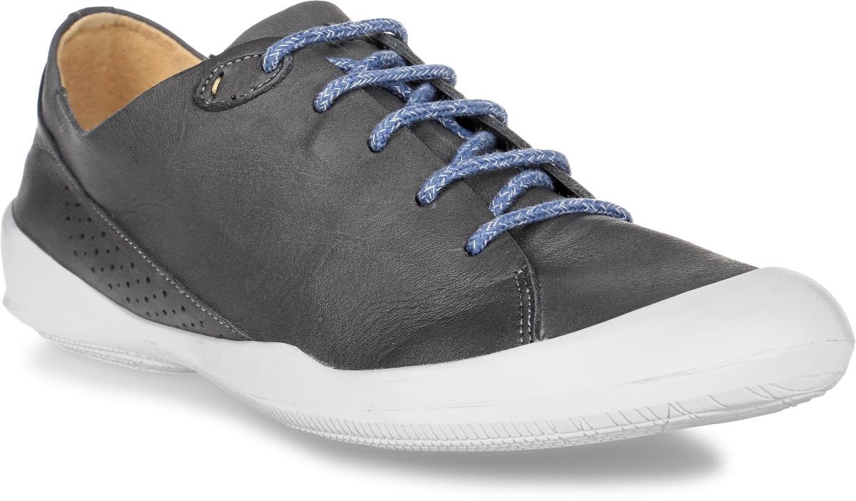 Кеды женские TBS Vespper, цвет: темно-серый. VESPPER-C7202. Размер 39 (38)VESPPER-C7202Стильные женские кеды Vespper от TBS - это легкость и свобода движения каждый день! Функциональные, практичные, удобные, они подходят для городской жизни и активного отдыха. Дизайн обуви позволяет носить ее под одежду любого стиля. Модель выполнена из натуральной кожи и оформлена прострочкой и перфорацией. Мысок защищен резиновой накладкой. Внутренняя отделка и стелька исполнены из натуральной кожи. Шнуровка надежно фиксирует изделие на ноге. Резиновая подошва с рельефной поверхностью обеспечивает идеальное сцепление. В таких кедах вы всегда будете выглядеть модно и стильно.