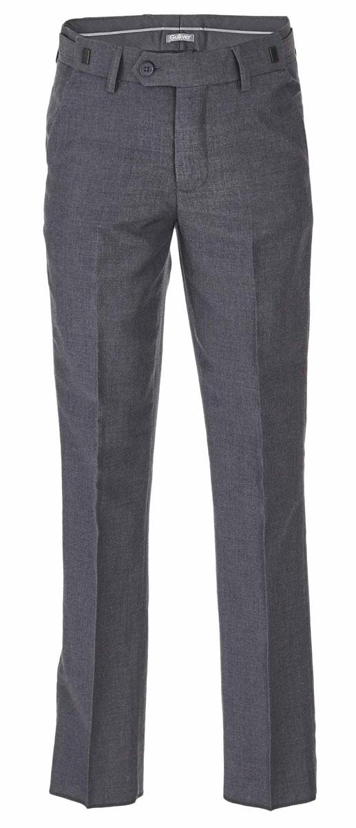 Брюки для мальчика Gulliver, цвет: серый. 217GSBC6303. Размер 128217GSBC6303Классические брюки для мальчика - основа повседневного школьного гардероба. В сочетании с любым верхом, они смотрятся строго, настраивая на деловую волну. Хороший состав и качество ткани обеспечивают брюкам достойный внешний вид, долговечность и неприхотливость в уходе. Школьные брюки для мальчика имеют удобную регулировку пояса, создающую комфортную посадку изделия на любой фигуре.