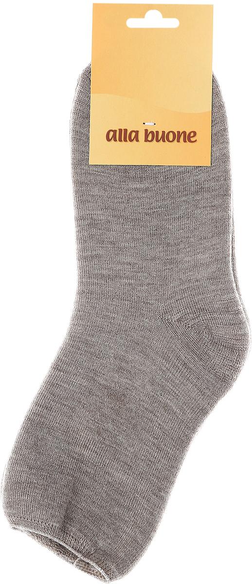 Носки женские Alla Buone, цвет: бежевый. 018CD. Размер 25 (38-40)018CDЖенские носки из шестяного волокна с ослабленной медицинской резинкой.