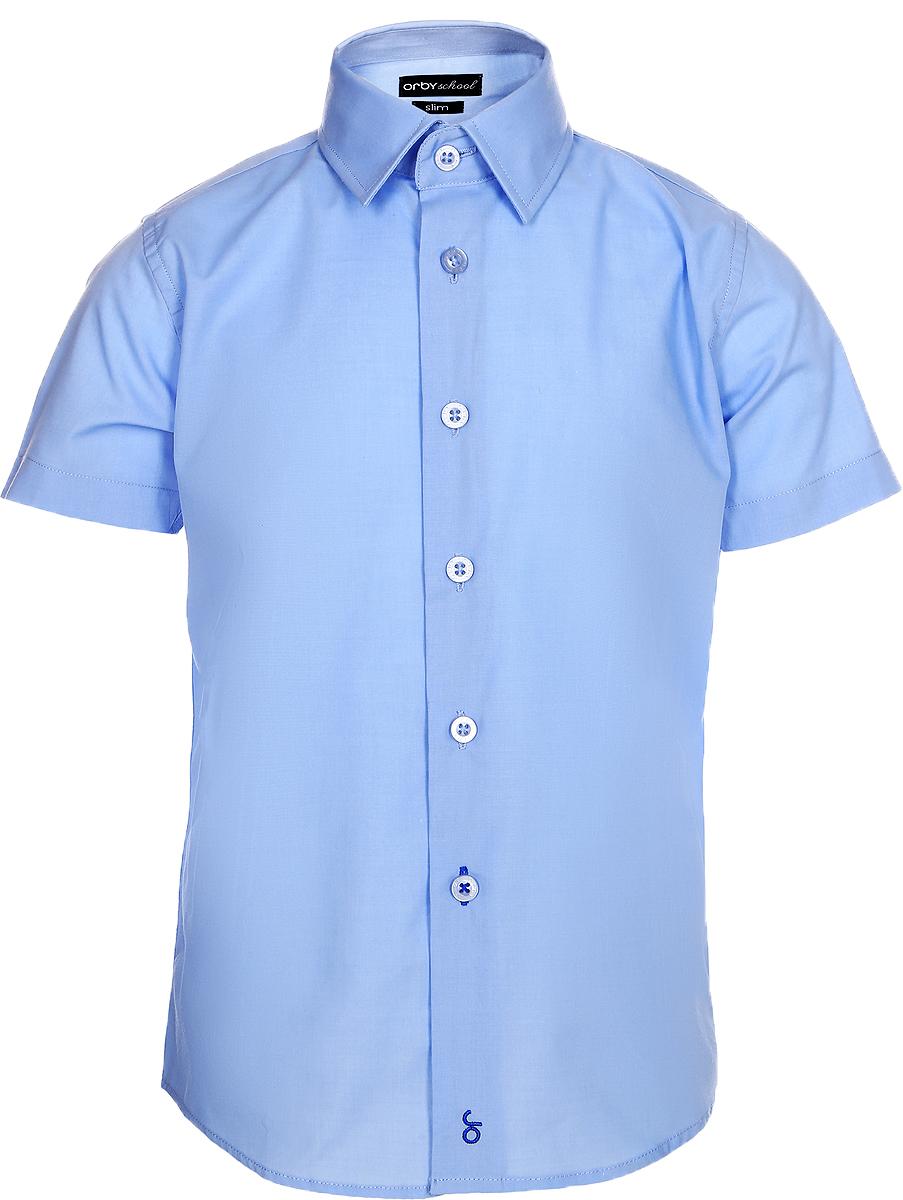 Рубашка для мальчика Orby, цвет: небесно-голубой. 70405_OLB_вар.3. Размер 164, 12-13 лет70405_OLB_вар.3Стильная рубашка для мальчика Orby идеально подойдет для школы. Она необычайно мягкая, легкая и приятная на ощупь, не сковывает движения малыша и позволяет коже дышать, не раздражает даже самую нежную и чувствительную кожу ребенка, обеспечивая ему наибольший комфорт. Рубашка прямого кроя с коротким рукавом и классическим воротничком застегивается на пуговицы.Такая рубашка - незаменимая вещь для повседневного гардероба.