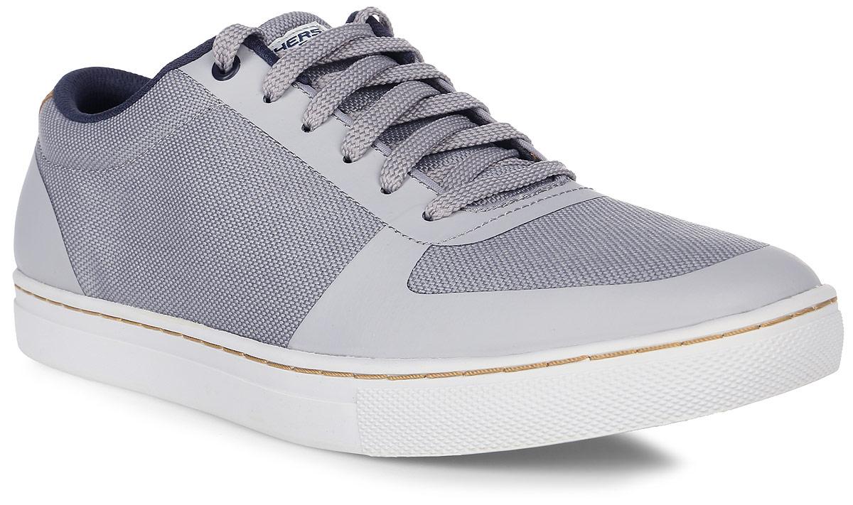 Кроссовки мужские Skechers Elvino, цвет: серый. 64795-GRY. Размер 9 (42)64795-GRYСтильные мужские кроссовки Skechers отлично подойдут для повседневной носки. Верх модели выполнен из текстиля со вставками из полиуретана. Удобная шнуровка надежно фиксирует модель на стопе. Подошва обеспечивает легкость и естественную свободу движений.