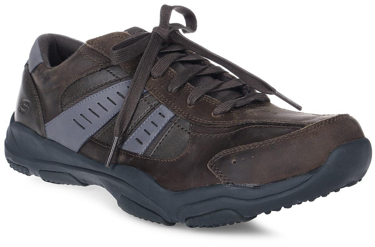 Кроссовки мужские Skechers Larson - Nerick, цвет: серый. 64833-CHAR. Размер 11 (45)64833-CHARСтильные мужские кроссовки Skechers отлично подойдут для активного отдыха и повседневной носки. Верх модели выполнен из натуральной кожи. Удобная шнуровка надежно фиксирует модель на стопе. Подошва обеспечивает легкость и естественную свободу движений. Мягкие и удобные, кроссовки превосходно подчеркнут ваш спортивный образ и подарят комфорт.