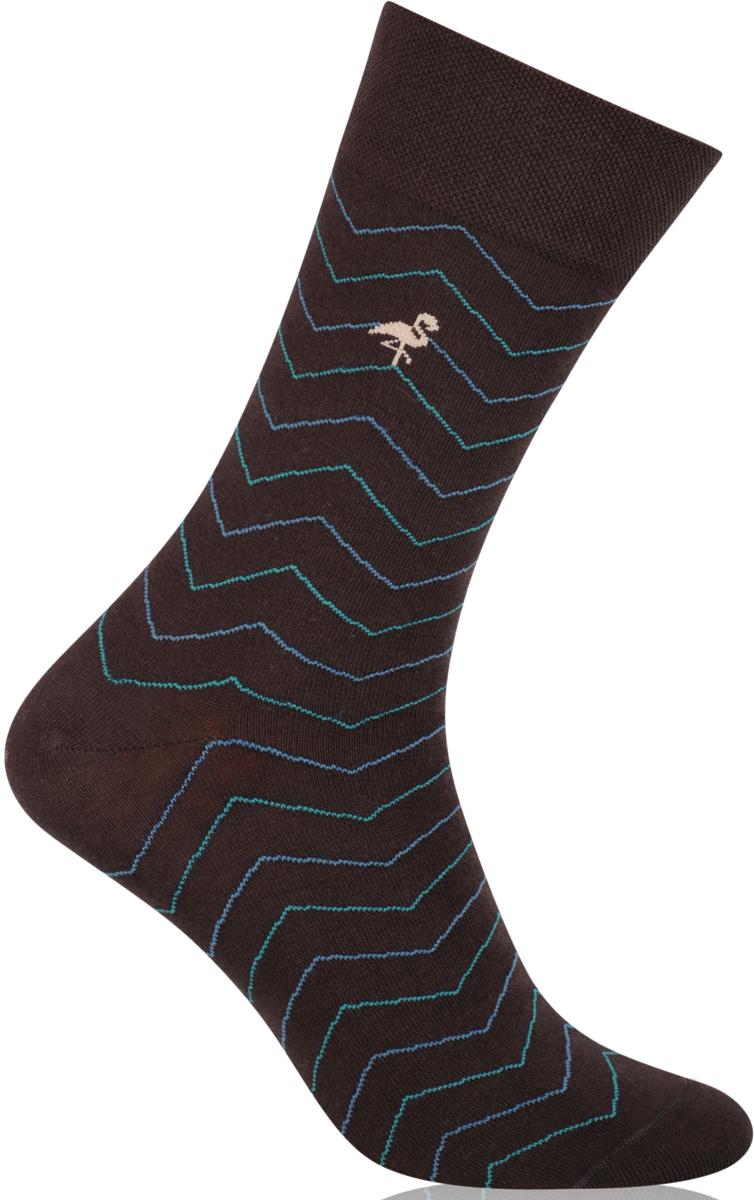 Носки мужские More, цвет: коричневый. 051 (028). Размер 43/46051 (028)Стильные деловые мужские носки More изготовлены из высококачественного хлопка, они приятны на ощупь, не раздражают кожу, позволяя ей дышать. Модель отлично облегает стопу. Имеют удобную не сдавливающую резинку.Изделие дополнено принтом.