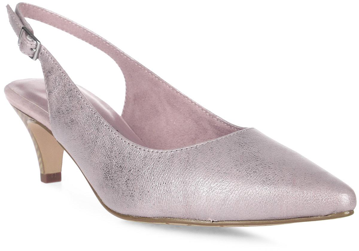 Туфли женские Tamaris, цвет: розовый. 1-1-29607-38-952/209. Размер 411-1-29607-38-952/209Модные туфли от Tamaris - основа гардероба каждой женщины! Модель изготовлена из натуральной кожи и исполнена в лаконичном стиле. Кожаная стелька позволяет ногам дышать. Каблук стилизован под дерево.В таких туфлях вашим ногам будет комфортно и уютно. Они подчеркнут ваш стиль и индивидуальность.