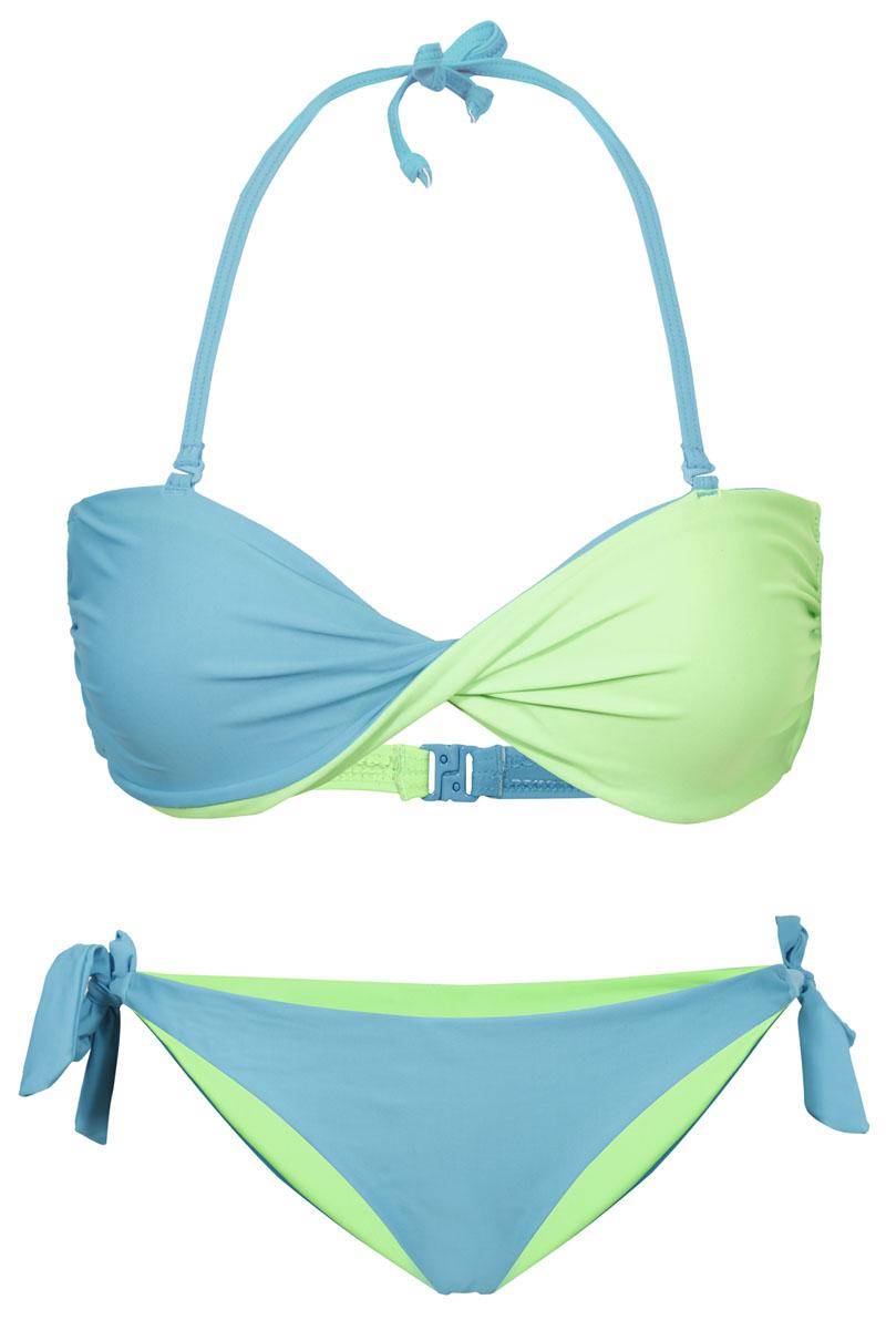 Купальник раздельный Icepeak Jacklyn, цвет: голубой, зеленый. 765014810IV. Размер 36 (42)765014810IVРаздельный купальник Jacklyn от Icepeak, состоящий из двух предметов, выполнен из технологичного материала с защитой от ультрафиолета и хлора. Лиф – с чашками бра фиксируемыми на шее тонкими съемными завязками, и на спинке застегивается на защелку. Трусики-слипы с заниженной линией талии на завязках.