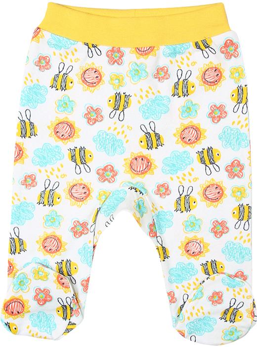 Ползунки для девочки Cherubino, цвет: желтый. CAN 7562 (142). Размер 62CAN 7562 (142)Ползунки для девочки Cherubino выполнены из набивного мягкого трикотажа.Ползунки с закрытыми ножками на талии имеют эластичную трикотажную резинку, благодаря чему не сдавливают животик ребенка и не сползают. Оформлена модель ярким принтом.
