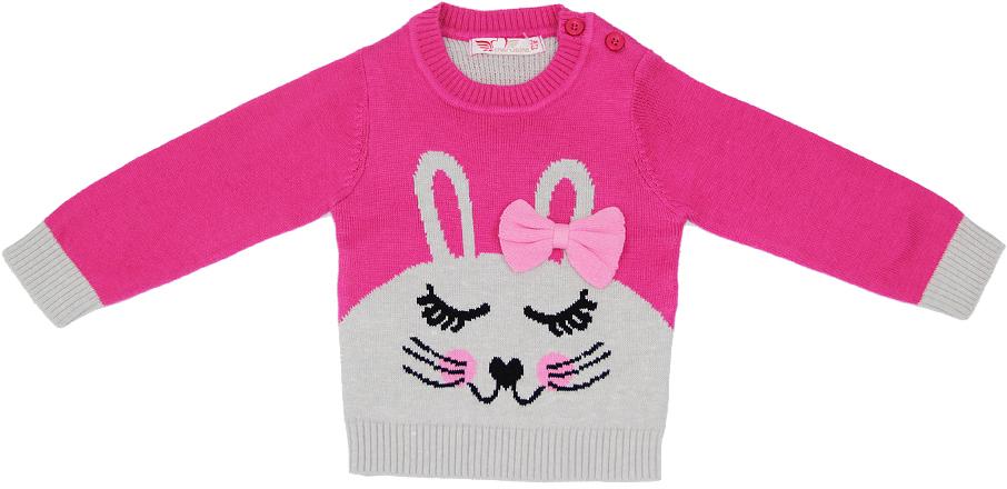 Джемпер для девочки Cherubino, цвет: розовый. CB 6W099. Размер 86CB 6W099Джемпер вязаный для девочки Cherubino с вывязанной аппликацией из смесовой пряжи. Он необычайно мягкий и приятный на ощупь, не сковывает движения малышки и позволяет коже дышать, не раздражает даже самую нежную и чувствительную кожу ребенка, обеспечивая ей наибольший комфорт.