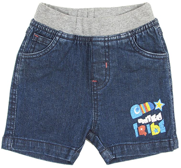 Шорты для мальчика Cherubino, цвет: синий. CB 7J043. Размер 80CB 7J043Шорты джинсовые для мальчика Cherubino, из тонкого денима. Изделие имеет мягкий трикотажный пояс надежно фиксирующий шортики и не сдавливающую животик ребенка.