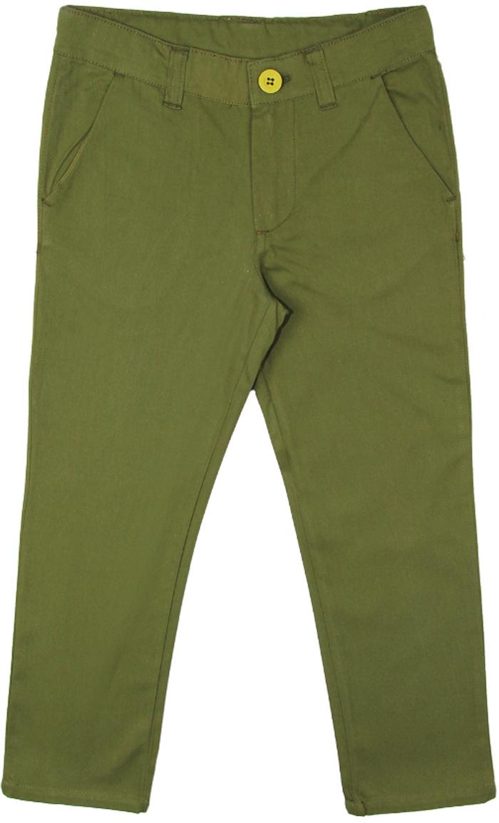 Брюки для мальчика Cherubino, цвет: темно-зеленый. CK 7T056 (147). Размер 122CK 7T056 (147)Брюки для мальчика Cherubino изготовлены из натурального хлопка. Модель застегивается на молнию и пуговицу и дополнена карманами.