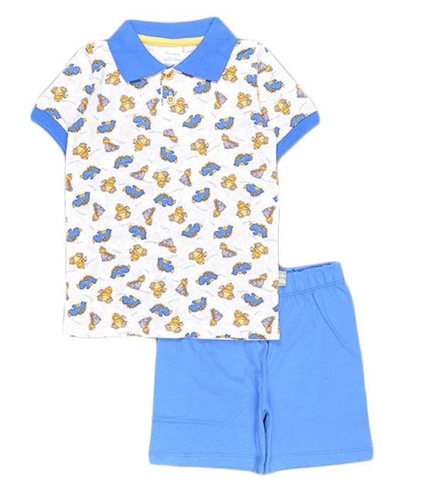 Комплект для мальчика Cherubino: джемпер, шорты, цвет: синий. CSB 9237 (20). Размер 98CSB 9237 (20)Комплект для мальчика Cherubino послужит идеальным дополнением к гардеробу вашего крохи, состоит из набивной футболки-поло и гладкокрашенных шорт. Комплект очень мягкий и легкий, не раздражает нежную кожу ребенка и хорошо вентилируется.