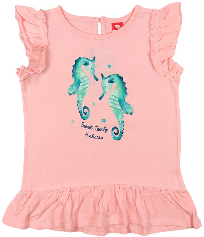 Платье для девочки Cherubino, цвет: светло-розовый. CSB 61549 (144). Размер 86CSB 61549 (144)Платье для девочки Cherubino изготовлено из натурального хлопка. Однотонная модель оформлена оригинальным принтом и рукавами-крылышками.
