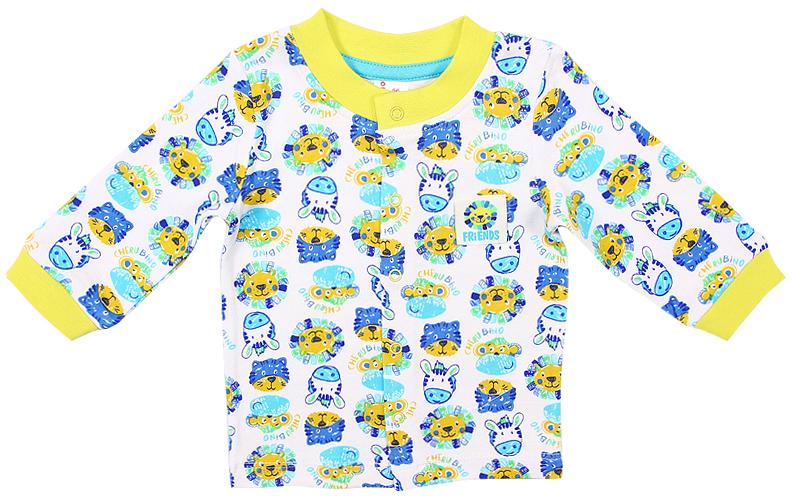 Распашонка для мальчика Cherubino, цвет: синий. CAN 61545 (143). Размер 56CAN 61545 (143)Распашонка для мальчика Cherubino послужит идеальным дополнением к гардеробу вашего крохи. Модель из набивного трикотажа, очень мягкая и легкая, не раздражает нежную кожу ребенка и хорошо вентилируется. Застегивается на кнопки, что помогает при переодевании малыша.В такой распашонке малышу будет уютно и комфортно.