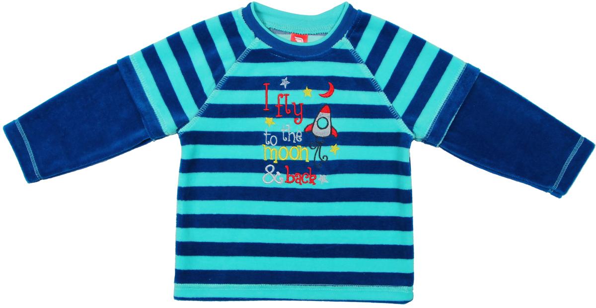 Джемпер для мальчика Cherubino, цвет: синий. CWB 61491. Размер 98CWB 61491Джемпер для мальчика Cherubino изготовлен из хлопка с добавлением полиэстера. Джемпер выполнен из комбинированного велюра и украшен принтом.