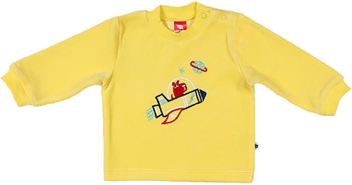 Джемпер для мальчика Cherubino, цвет: желтый. CWN 61236 (131). Размер 68CWN 61236 (131)Джемпер для мальчика Cherubino изготовлен из хлопка и полиэстера. Велюровый джемпер для мальчика застегивается на кнопки на плече и декорирован вышивкой.
