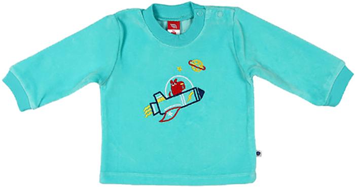 Джемпер для мальчика Cherubino, цвет: бирюзовый. CWN 61236 (131). Размер 74CWN 61236 (131)Джемпер для мальчика Cherubino изготовлен из хлопка и полиэстера. Велюровый джемпер для мальчика застегивается на кнопки на плече и декорирован вышивкой.