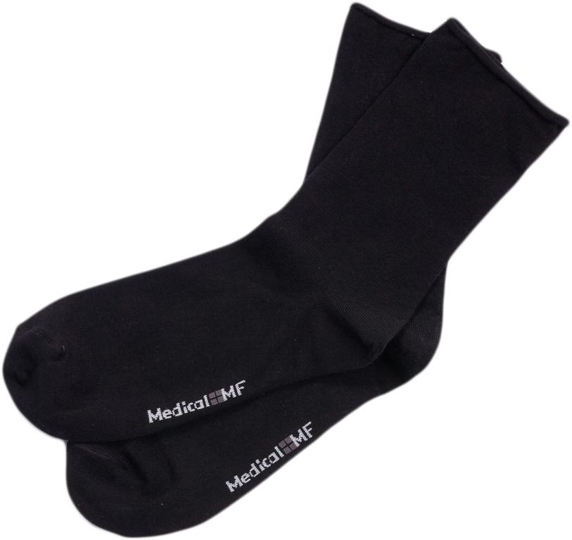 Носки мужские Mark Formelle, цвет: черный. 008M_930. Размер 29 (44/45)008M_930Удобные носки Mark Formelle, изготовленные из высококачественного комбинированного материала, очень мягкие и приятные на ощупь, позволяют коже дышать. Эластичная резинка плотно облегает ногу, не сдавливая ее, обеспечивая комфорт и удобство. Модель дополнена принтом. Практичные и комфортные носки великолепно подойдут к любой вашей обуви.