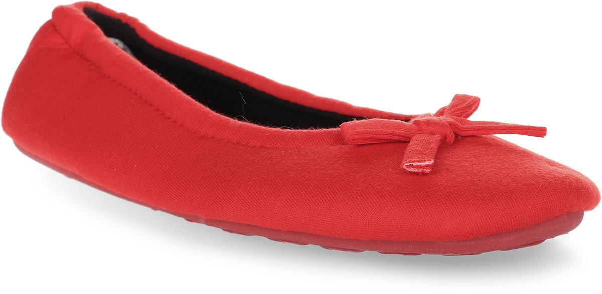 Тапки женские Soxo, цвет: красный. 75337. Размер 40/4175337Домашние тапочки-балетки от Soxo выполнены из качественного мягкого текстиля. Модель оформлена декоративным бантиком.