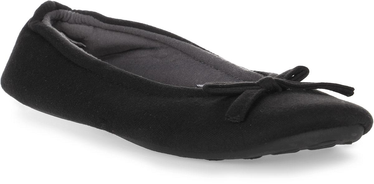 Тапки женские Soxo, цвет: черный. 75337_1. Размер 40/4175337_1Домашние тапочки-балетки от Soxo выполнены из качественного мягкого текстиля. Модель оформлена декоративным бантиком.
