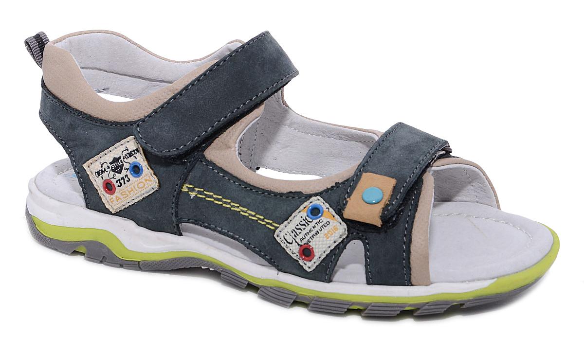 Сандалии для мальчика Milton, цвет: серый. 24432. Размер 3424432Удобные и стильные сандалии Milton очаруют вашего мальчика с первого взгляда! Сандалии дополнены ремешками на липучках. Верх модели выполнен из комбинации натуральной и искусственной кожи. Стелька и подкладка изготовлены из натуральной кожи, благодаря чему обувь дышит, что обеспечивает идеальный микроклимат. Подошва изготовлена из термопластичного полимера.