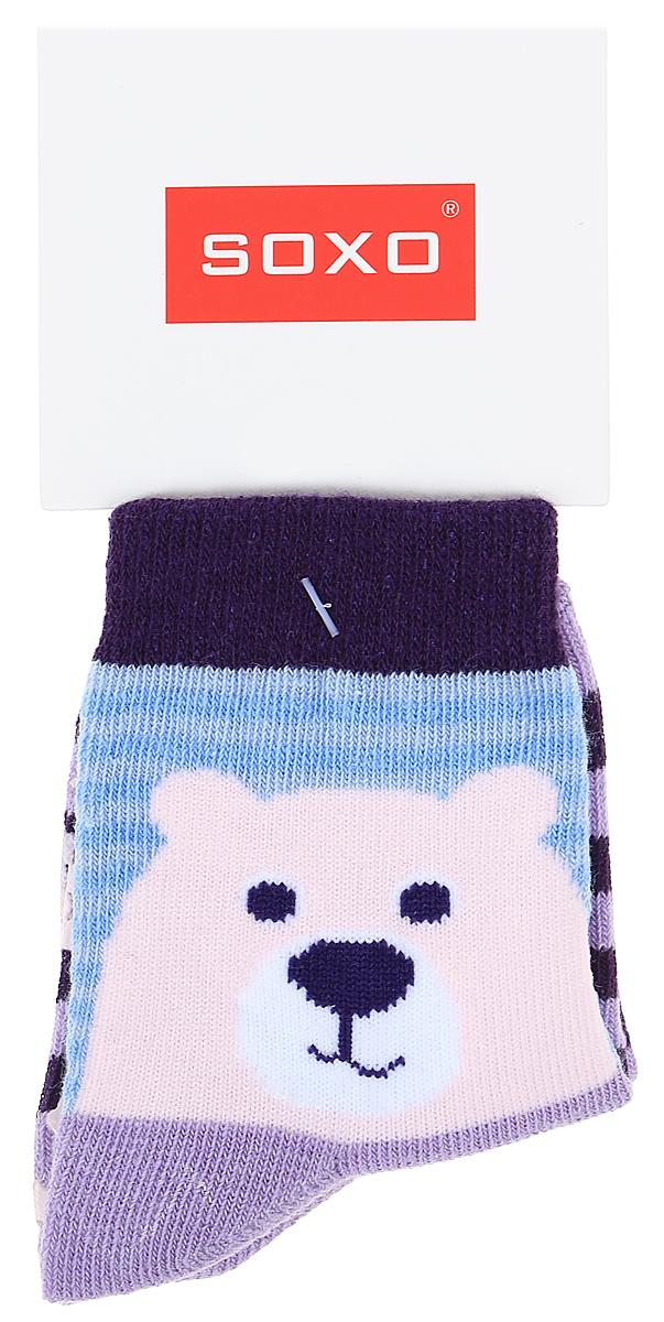 Носки для девочек Soxo, цвет: фиолетовый. 76990_3. Размер 19/2176990_3