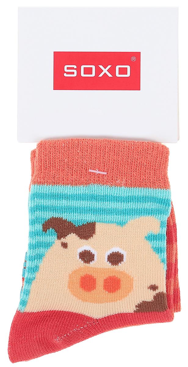 Носки детские Soxo, цвет: оранжевый. 76990_5. Размер 19/2176990_5