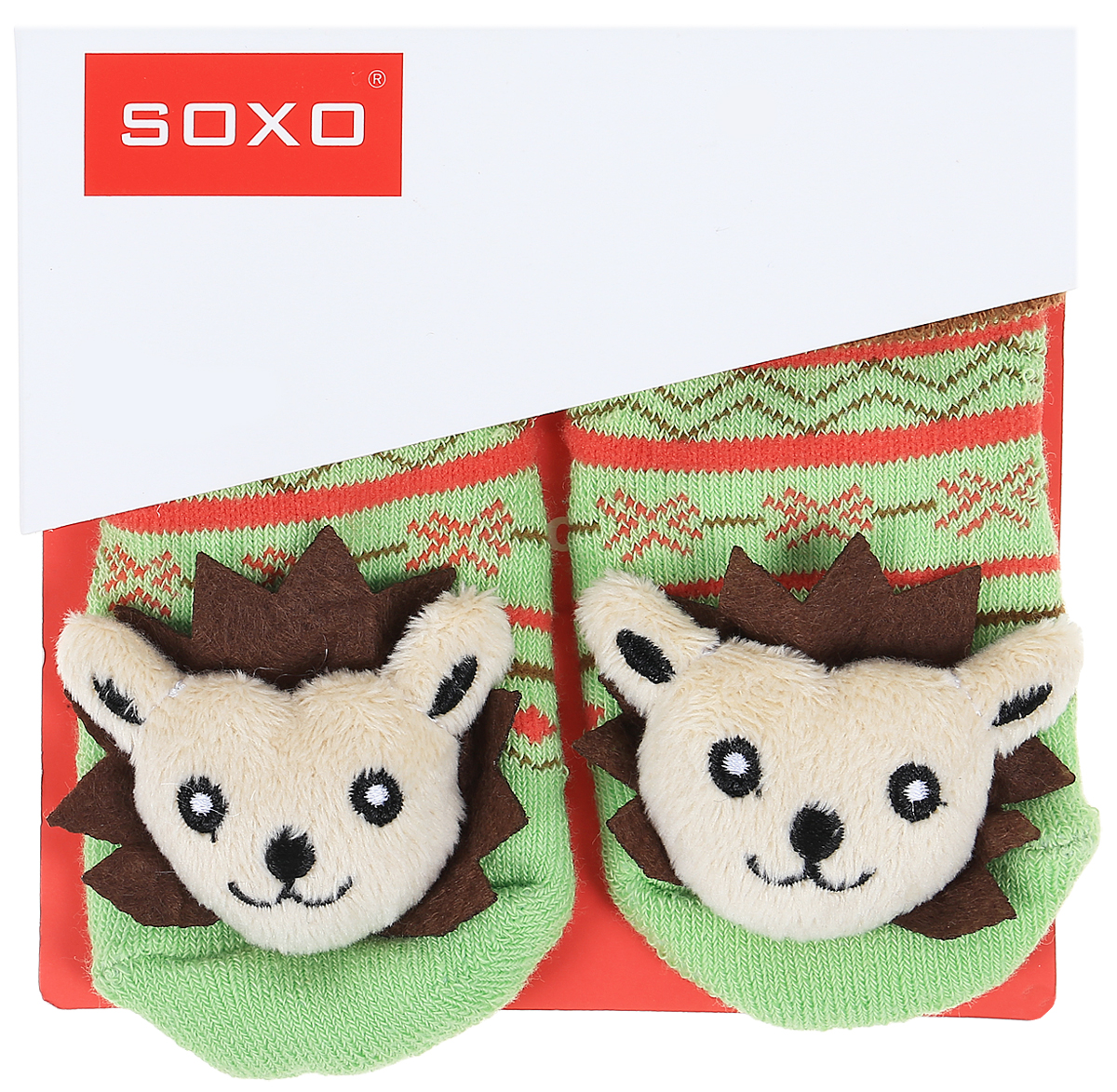 Носки детские Soxo, цвет: зеленый, коричневый. 46146_5. Размер 16/1846146_5