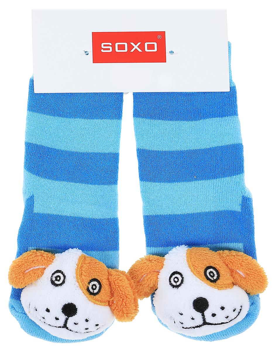 Носки детские Soxo, цвет: ярко-голубой. 77980_1. Размер 19/2177980_1