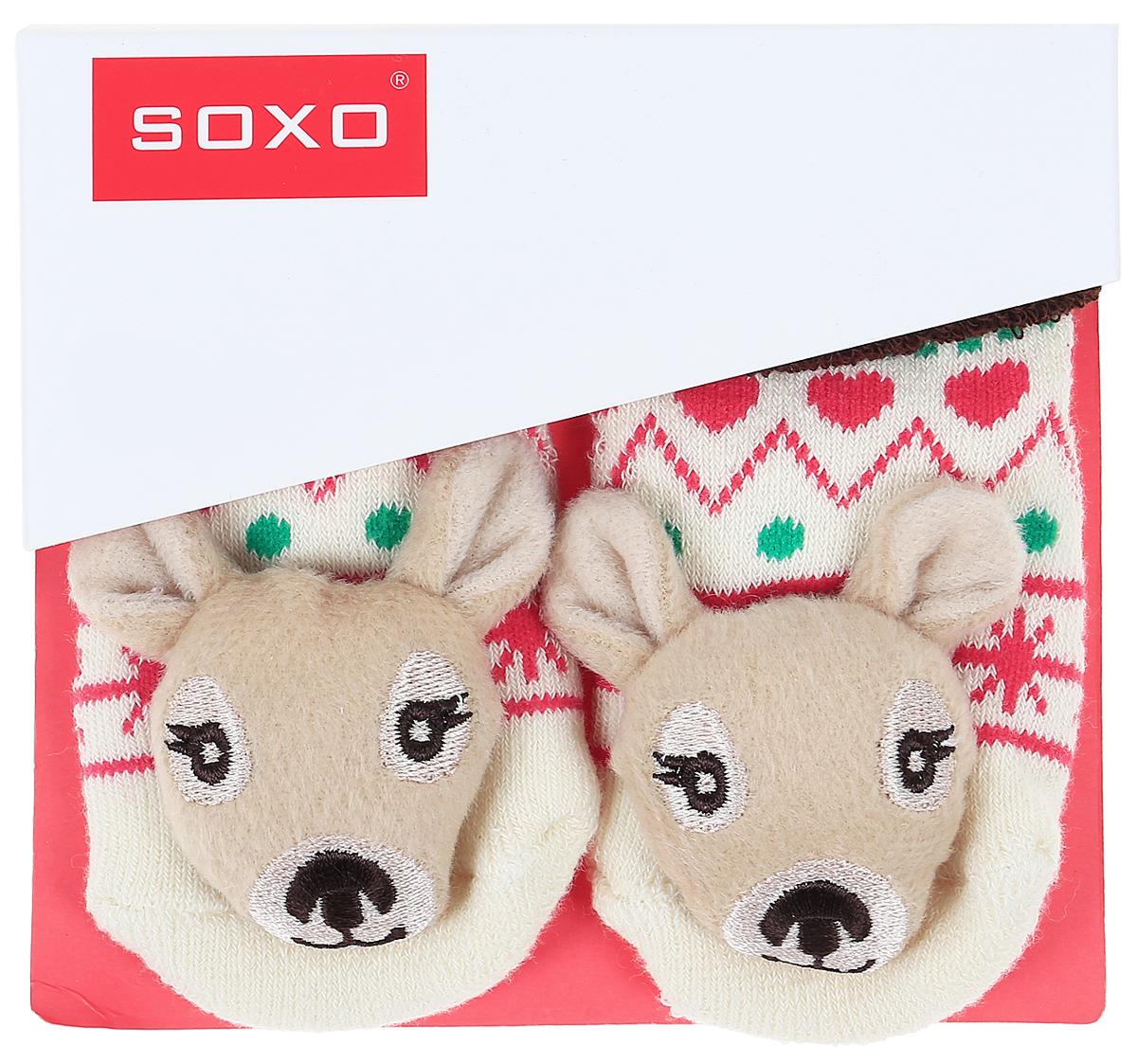 Носки детские Soxo, цвет: бежевый, коричневый. 46146_1. Размер 16/1846146_1