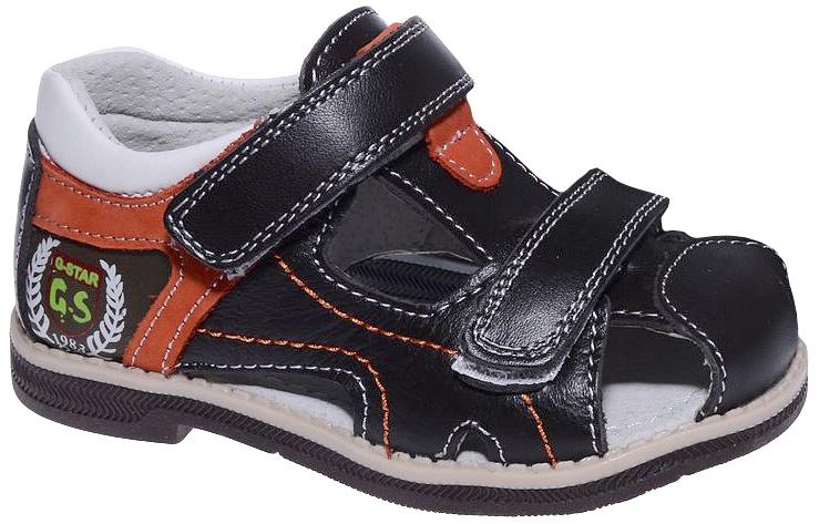Сандалии для мальчика Мифер, цвет: черный, коричневый. 7306C. Размер 277306CДетские сандалии Мифер выполнены из качественной искусственной кожи. Ремешки с липучками обеспечат оптимальную посадку модели на ноге. Мягкая стелька придаст максимальный комфорт при движении.