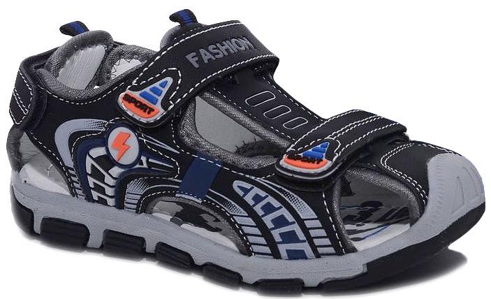 Сандалии для мальчика Мифер, цвет: черный. 7512C. Размер 317512CДетские сандалии Мифер выполнены из качественной искусственной кожи. Ремешки с липучками обеспечат оптимальную посадку модели на ноге. Мягкая стелька придаст максимальный комфорт при движении. Подошва оснащена рифлением для лучшего сцепления с различными поверхностями.