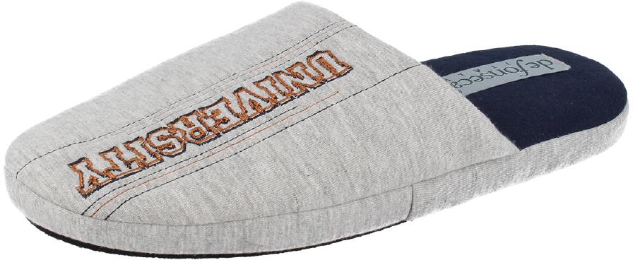 Тапки мужские Defonseca, цвет: светло-серый. ROMA M145. Размер 40/41ROMA M145Домашние тапки от Defonseca выполнены из качественного текстиля. Внутренняя часть выполнена из мягкого текстиля. Подошва изготовлена из легкой и гибкой резины.