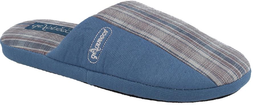 Тапки мужские Defonseca, цвет: серый, голубой. ROMA M150. Размер 40/41ROMA M150Домашние тапки от Defonseca выполнены из качественного текстиля. Внутренняя часть выполнена из мягкого текстиля. Подошва изготовлена из легкой и гибкой резины.