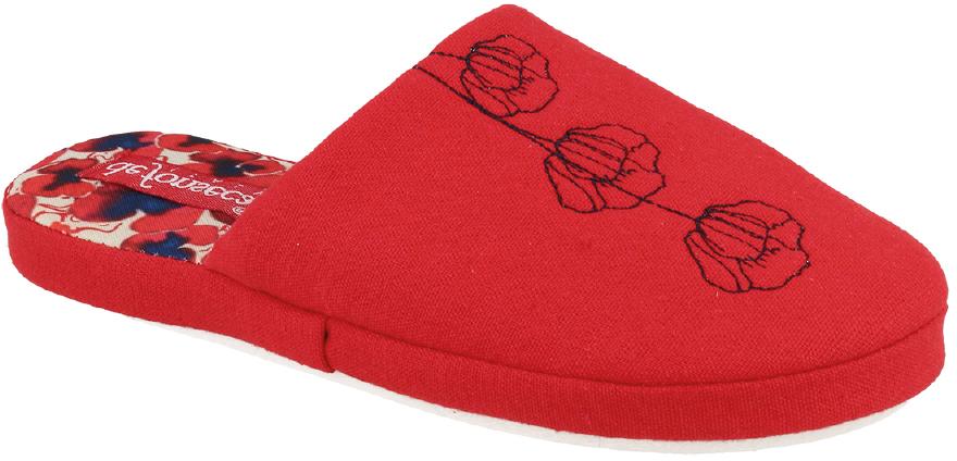 Тапки женские Defonseca, цвет: красный. ROMA TP W141. Размер 40/41ROMA TP W141Домашние тапочки от Defonseca выполнены из качественного яркого текстиля. Внутренняя часть выполнена из мягкого текстиля. Подошва изготовлена из легкой и гибкой резины.