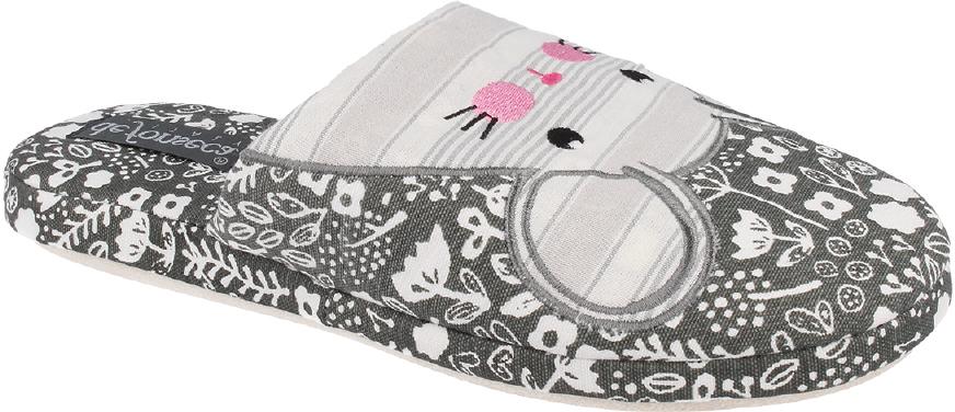 Тапки женские Defonseca, цвет: темно-серый. ROMA TP W157. Размер 36/37ROMA TP W157Домашние тапочки от Defonseca выполнены из качественного яркого текстиля. Внутренняя часть выполнена из мягкого текстиля. Подошва изготовлена из легкой и гибкой резины.