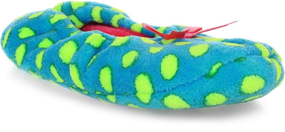 Тапки женские Soxo, цвет: голубой. 33160. Размер 36/3733160Домашние тапочки от Soxo выполнены из качественного текстиля с мягким ворсом. Модель оформлена ярким принтом, а по краям дополнена внутренней резинкой.