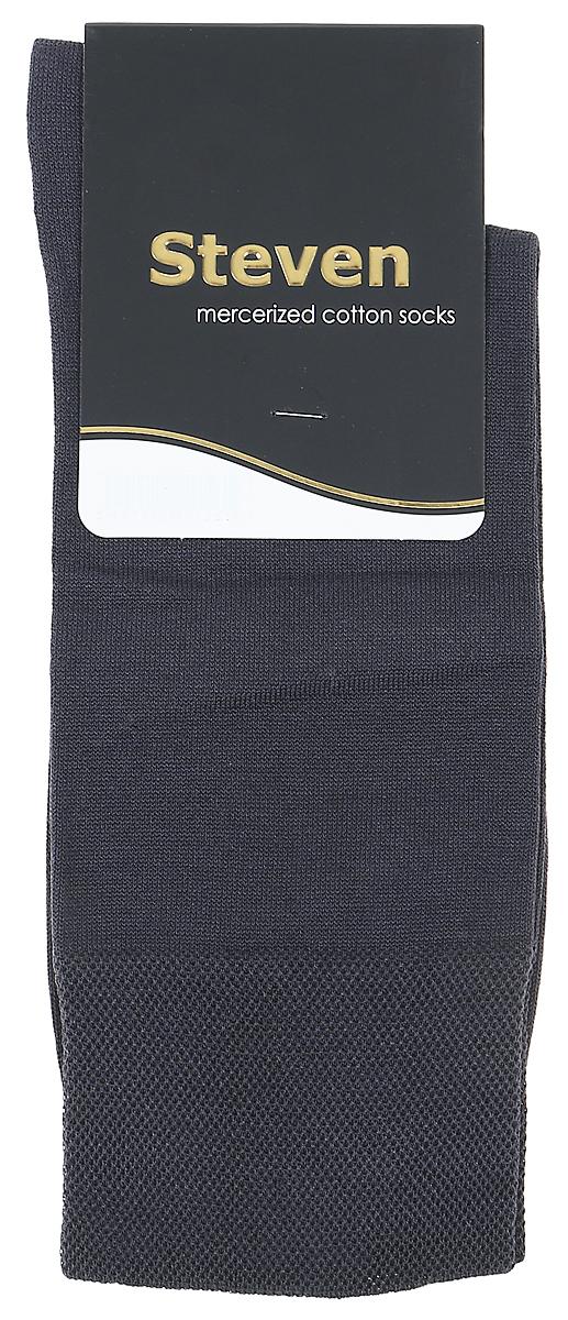 Носки мужские Steven, цвет: темно-серый. 087 (AB7). Размер 41/43087 (AB7)Носки Steven изготовлены из качественного материала на основе хлопка. Модель имеет мягкую эластичную резинку. Носки хорошо держат форму и обладают повышенной воздухопроницаемостью.