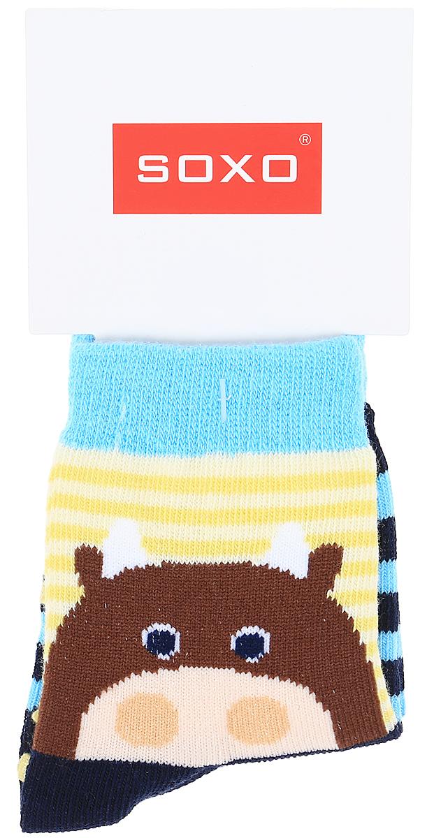 Носки детские Soxo, цвет: синий, голубой. 76990_2. Размер 19/2176990_2