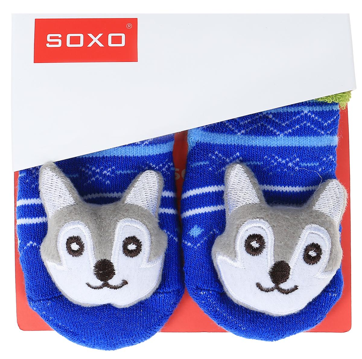 Носки детские Soxo, цвет: синий, зеленый. 46146_3. Размер 16/1846146_3