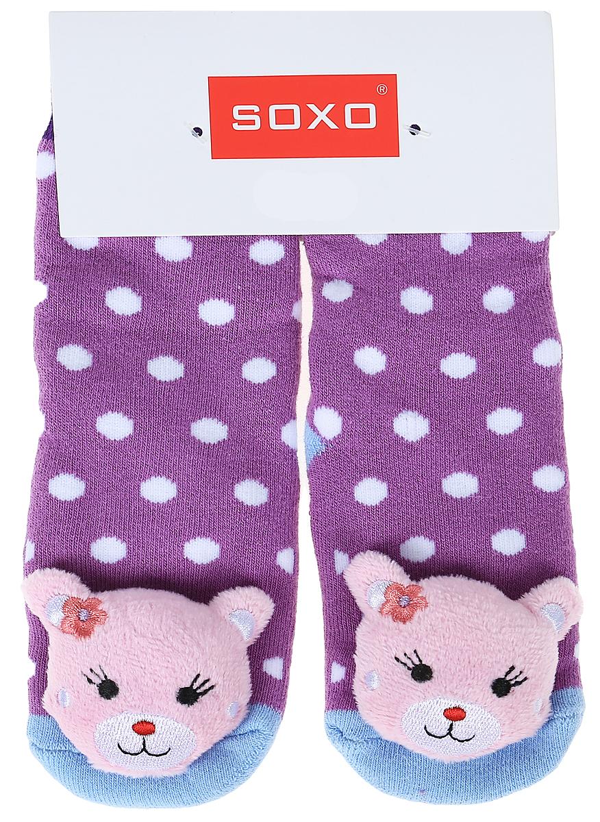 Носки для девочек Soxo, цвет: фиолетовый. 68728_5. Размер 19/2168728_5