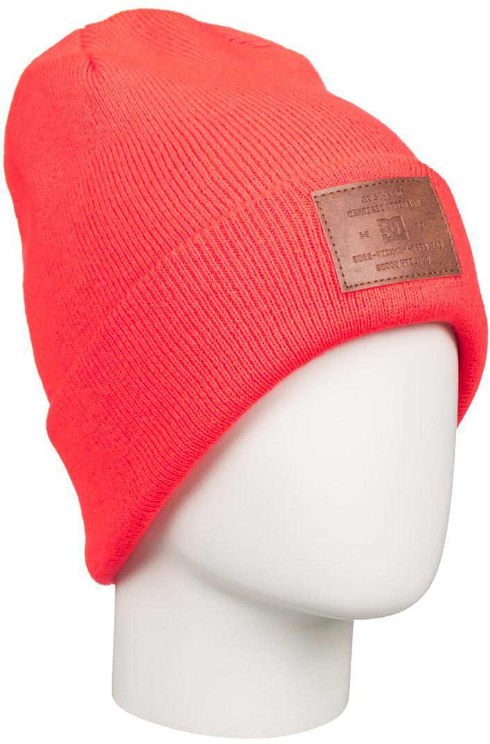 Шапка женская DC Shoes Label, цвет: оранжевый. EDJHA03015-MKZ0. Размер универсальныйEDJHA03015-MKZ0Стильная женская шапка Label выполнена из акрила. Оформлена отворотом и шашивкой из кожзаменителя с логотипом бренда.