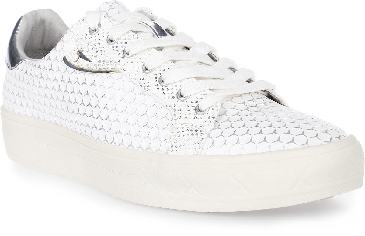 Кеды женские Tamaris, цвет: светло-серый. 1-1-23604-28-925/225. Размер 401-1-23604-28-925/225Стильные женские кеды от Tamaris покорят вас с первого взгляда! Модель выполнена из искусственной кожи и оформлена геометрическим принтом. Шнуровка обеспечивает надежную фиксацию обуви на ноге. Подкладка исполнена из текстиля, стелька - из искусственной кожи. Прочная резиновая подошва с рельефным рисунком обеспечивает сцепление с любой поверхностью. Такие кеды займут достойное место в вашем гардеробе.