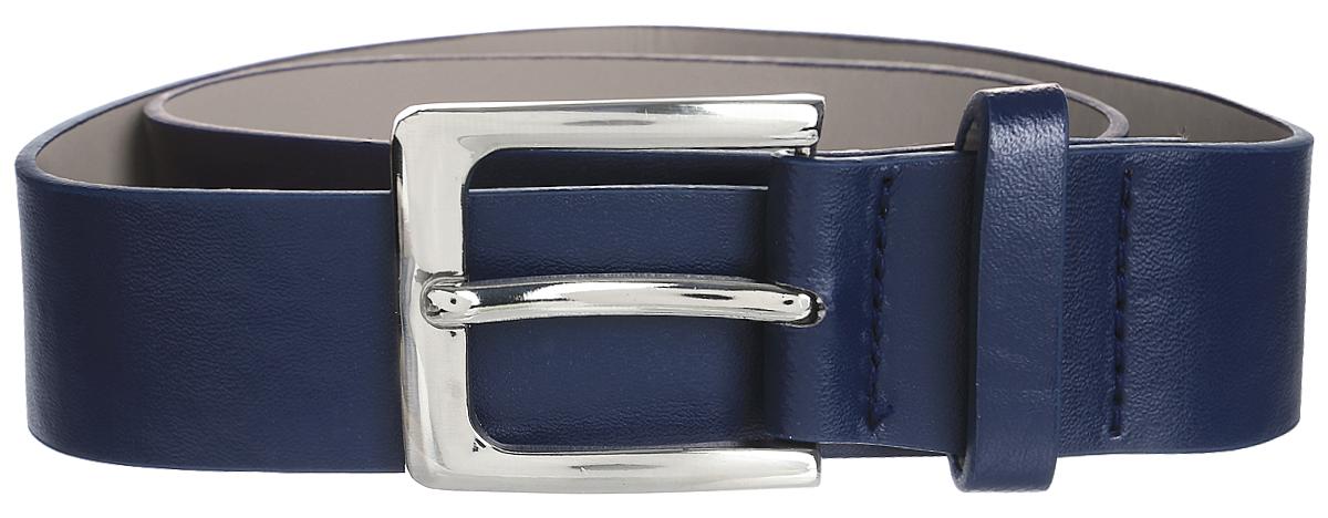Ремень для мальчика Scool, цвет: темно-синий. 373715. Размер 88373715Ремень для мальчика выполнен из качественного полиуретана. Пряжка овальной формы выполнена из металла.