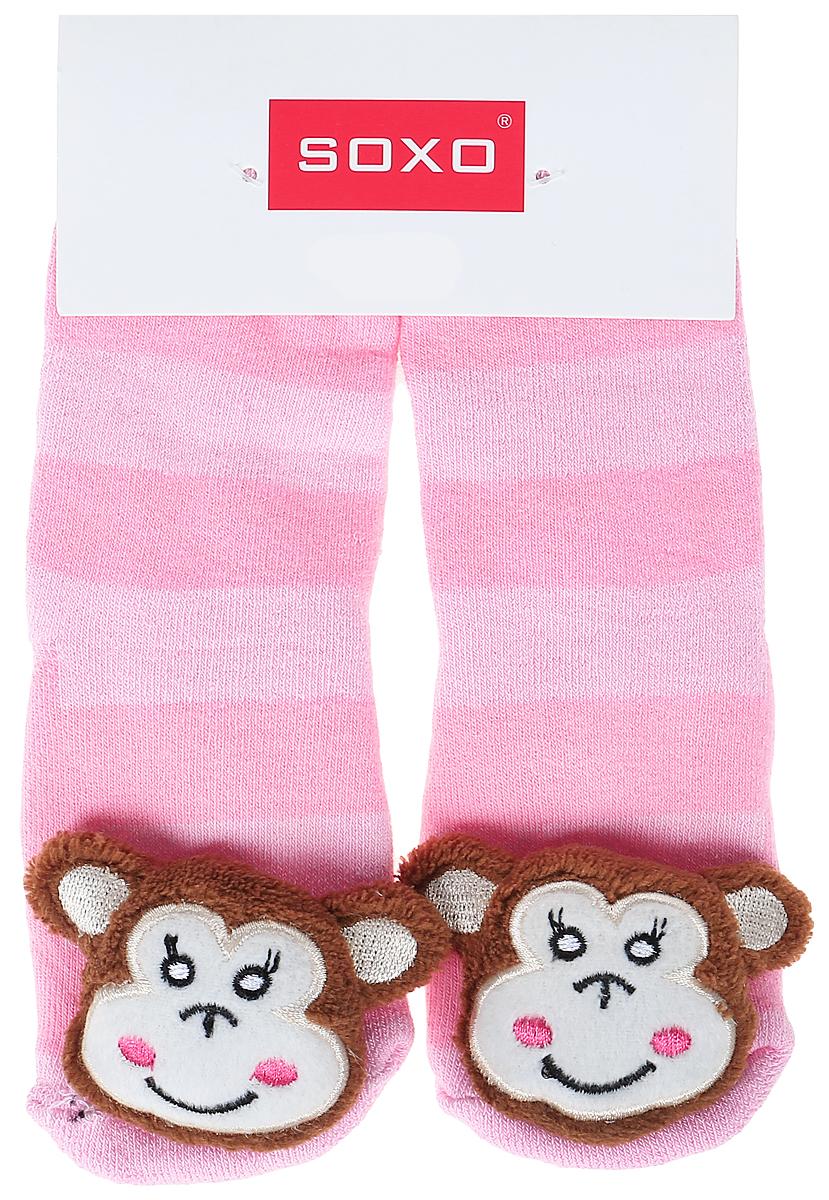 Носки для девочек Soxo, цвет: светло-розовый. 77980. Размер 19/2177980