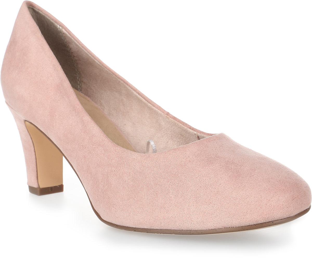 Туфли женские Tamaris, цвет: розовый. 1-1-22436-28-521/225. Размер 411-1-22436-28-521/225Стильные туфли от Tamaris - незаменимая вещь в гардеробе каждой женщины. Модель выполнена из качественного текстиля. Подкладка изготовлена из текстиля, стелька - из искусственной кожи. Невысокий каблук устойчив. Роскошные туфли помогут вам создать элегантный образ.