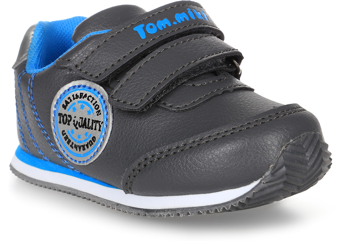 Кроссовки для мальчика Tom&Miki, цвет: серый. B-1053. Размер 22B-1053-CКроссовки для мальчика Tom&Miki изготовлены из качественной искусственной кожи. Липучки надежно зафиксируют обувь на ноге. Мягкая подкладка выполнена из кожи и текстиля. Подошва оснащена рифлением для лучшего сцепления с различными поверхностями.