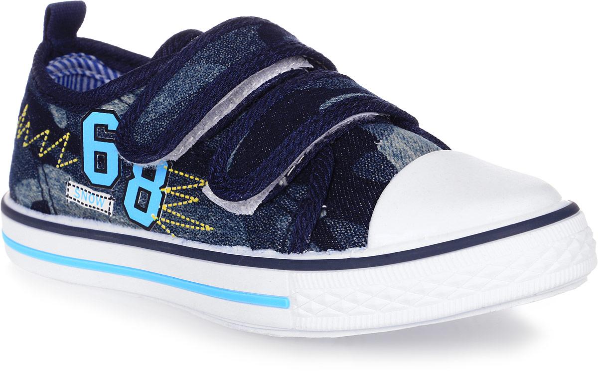 Кеды для мальчика Tom&Miki, цвет: темно-синий. B-0992-A. Размер 26B-0992-AКеды для мальчика Tom&Miki изготовлены из качественного текстиля. Модель оформлена оригинальным принтом и дополнена на мыске практичной прорезиненной накладкой. Липучки надежно зафиксируют обувь на ноге. Мягкая подкладка выполнена из кожи и текстиля. Такие кеды - отличный вариант на каждый день.