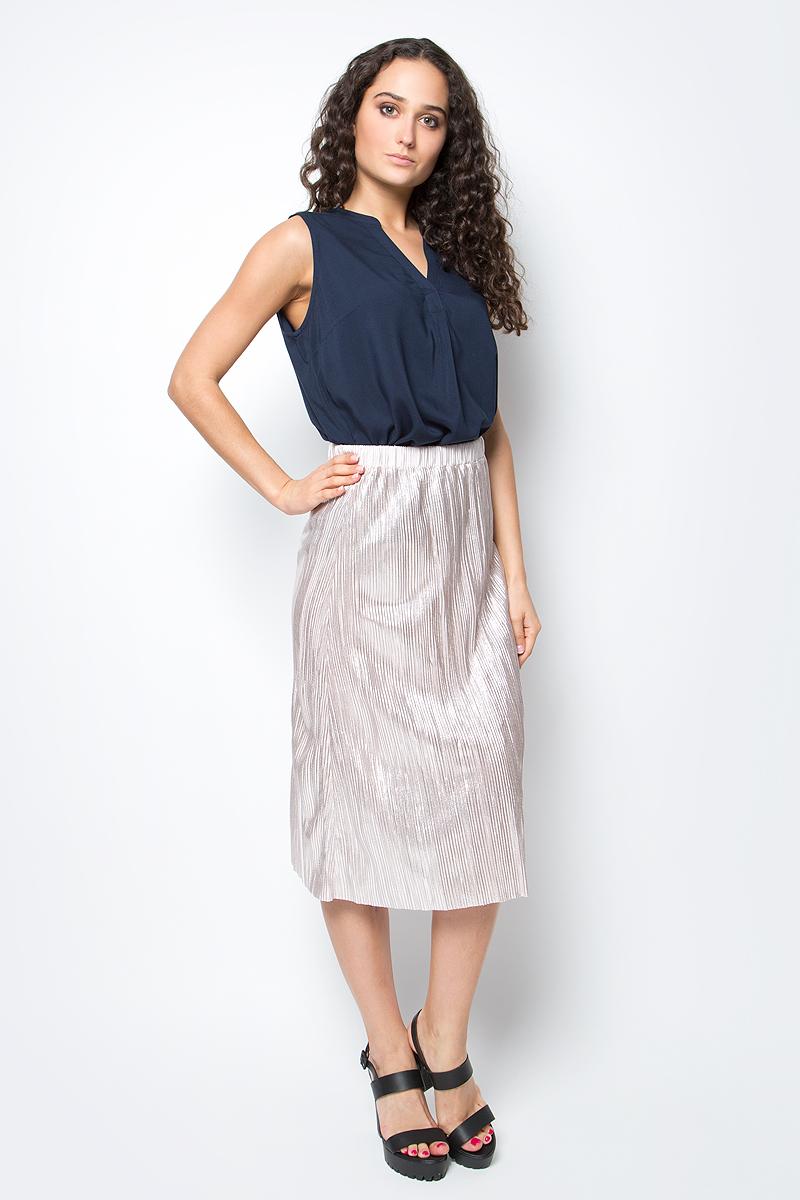 Юбка Tom Tailor, цвет: бежево-розовый. 5513494.00.71_1000. Размер S (44)5513494.00.71_1000Модная юбка Tom Tailor выполнена из 100% полиэстера. Юбка-миди с гофрированными складками на талии дополнена широким поясом на резинке.Эта стильная юбка послужит отличным дополнением к вашему гардеробу.