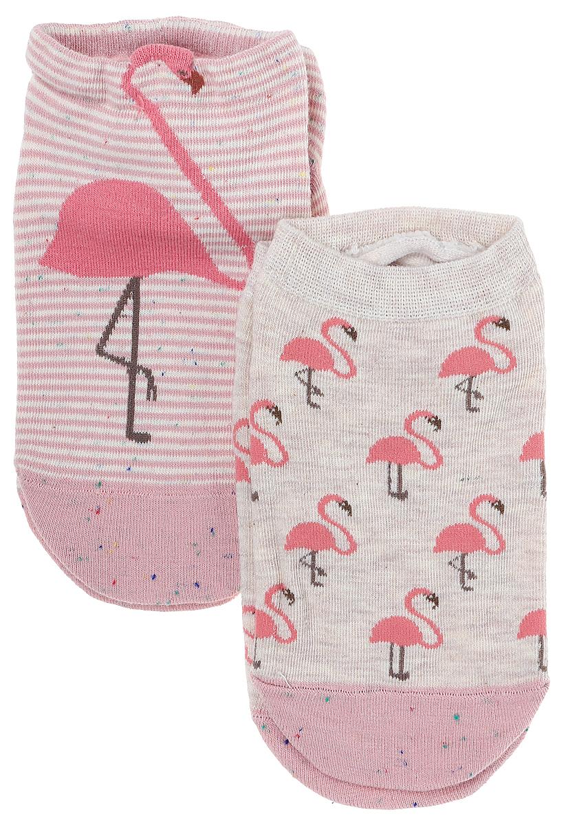 Носки женские Kawaii Factory Фламинго, цвет: розовый, 2 пары. 2006000073172. Размер 35/392006000073172Носки Kawaii Factory изготовлены из качественного материала на основе хлопка. Носки хорошо держат форму и обладают повышенной воздухопроницаемостью.